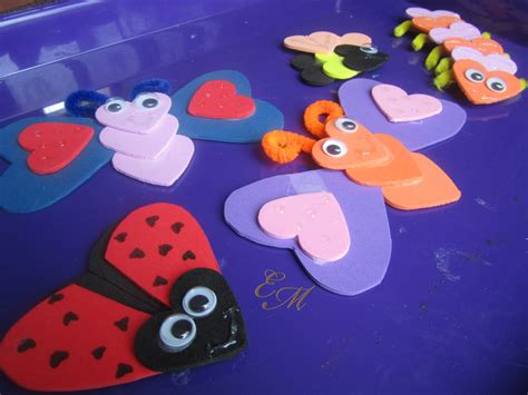 valentines day arts and crafts for s day craft bugs evolving motherhood