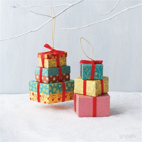 ornament gift boxes stacked gift boxes ornament set