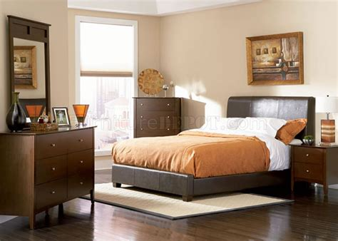 chocolate brown bedroom furniture chocolate brown contemporary bedroom with bycast leather bed