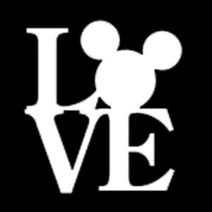 Minnie Mouse Wall Sticker mickey mouse head love vinyl decal graphics disney window
