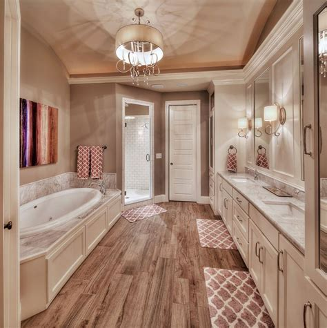 Big Bathrooms Ideas by Master Bathroom Hardwood Floors Large Tub His And