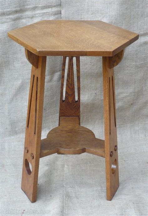 arts and crafts table for small arts and crafts side table in oak antiques atlas