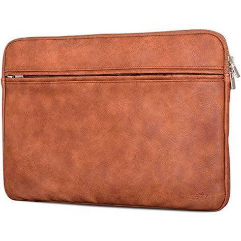 housse pc portable caseza quot boston quot en cuir pu macbook air pro 13 marron chemise en cuir