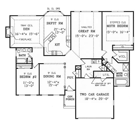 ranch floor plans with split bedrooms split bedroom ranch for modest lot 3858ja