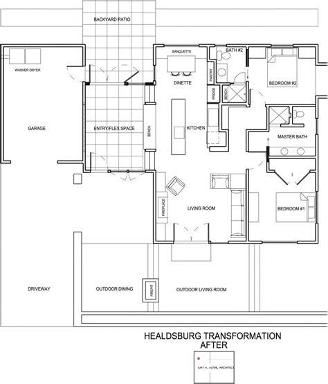 dise o planos dise 241 o de casa de una planta planos fachada e interior