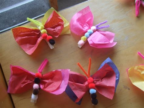 tissue paper butterfly craft tissue paper butterfly magnet craft vhc