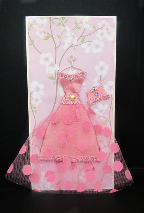 how to make a card dress cherry personalized dress card dl size handmade greeting