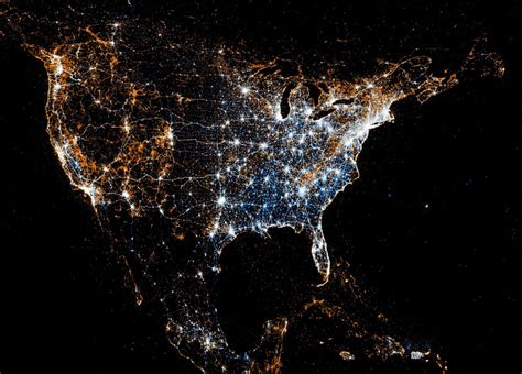 america lights infographic of the day using and flickr geotags