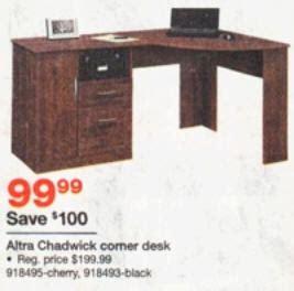 altra chadwick collection corner desk black friday deal altra chadwick collection corner desk