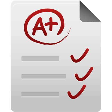 Grade, paper, test icon A-test Paper