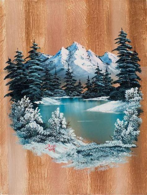 bob ross painting rocks best 25 winter painting ideas on