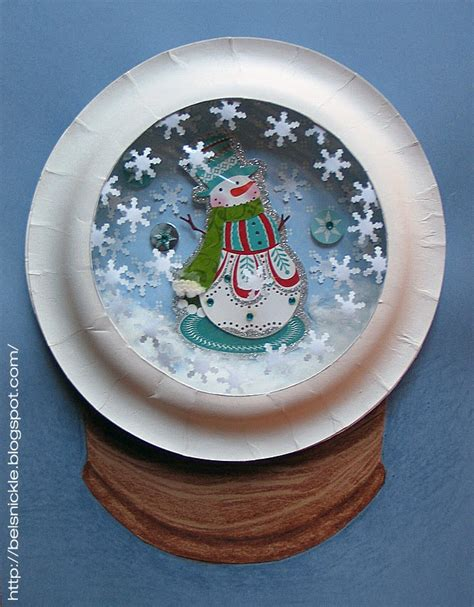 snow globe craft for craft a paper plate snow globe belznickle