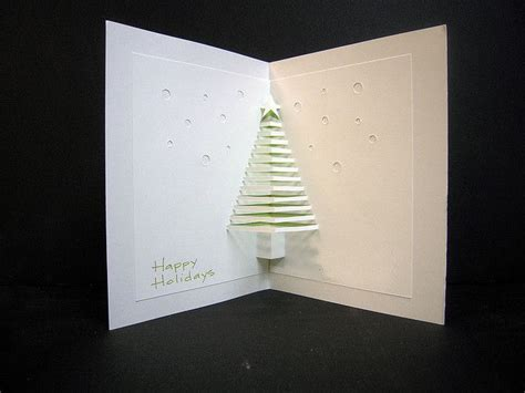 pop out tree card tree pop out card create