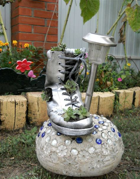 home and garden ideas for decorating diy home garden decor idea with a shoe planter and succulents