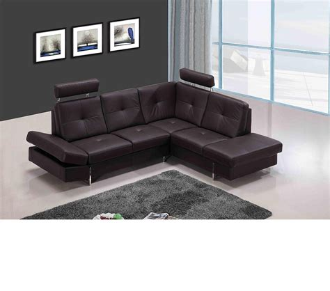 sectional sofa leather dreamfurniture 973 modern brown leather sectional sofa