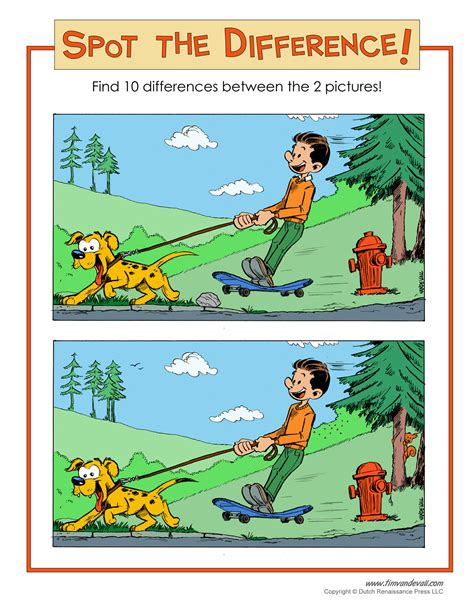 spot the different color spot the difference page 4