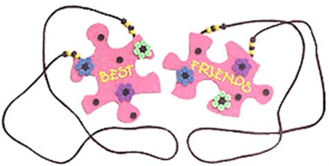 bff crafts for best friend puzzle necklace family crafts