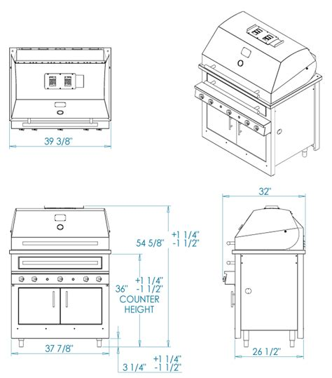 Kitchen Island Grill k750hb built in grill kalamazoo outdoor gourmet