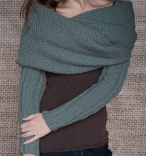 knitting patterns for sleeved cardigans knitting pattern sleeve scarf sweater wrap instand