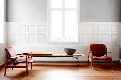 one collection relaunch of an 1950 s design chair by finn juhl