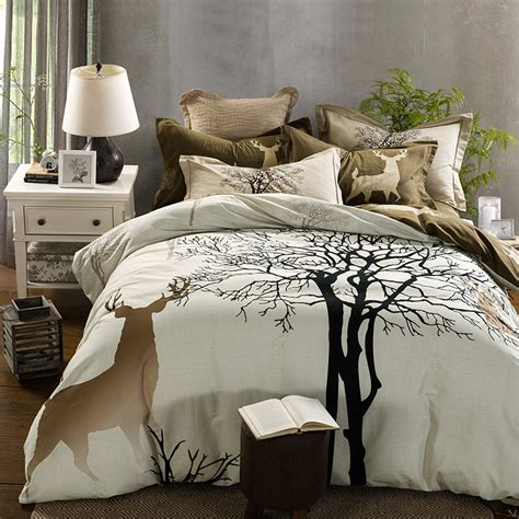 tree bed sets 100 cotton bedding sets size bed linen bedclothes