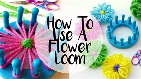 how to knit a flower on a loom episode 64 how to make a flower on a loom