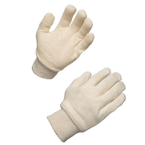 white knit gloves white jersey knit gloves of 144 pairs