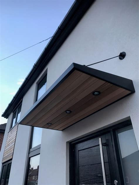 Metal Canopy by Metal Door Canopy With Cladding And Entrance Light
