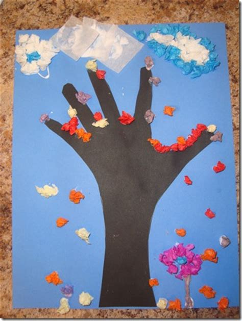 tissue paper tree craft be brave keep going tissue paper fall tree craft