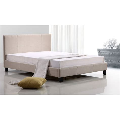 size fabric bed frames palermo size fabric bed frame in beige buy sale