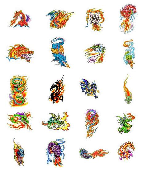 fire dragon tattoos what do they mean tattoos designs