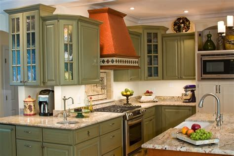 green kitchen cabinet ideas green kitchen cabinets kitchen eclectic with beige tile backsplash beige beeyoutifullife
