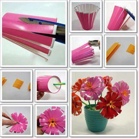 paper craft at home proyectos de reciclaje flores con vasos desechables