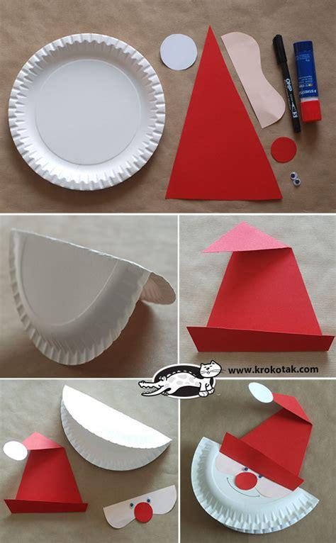 paper plate santa craft krokotak make a santa paper plate