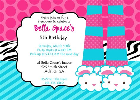 party invitations best pajama party invitation design