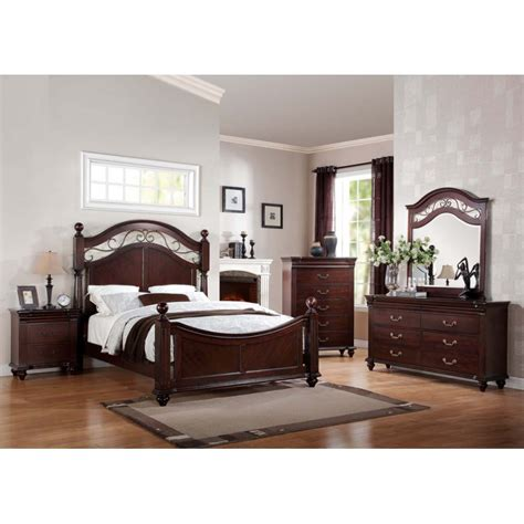4 bedroom furniture sets cleveland 4pc bedroom set