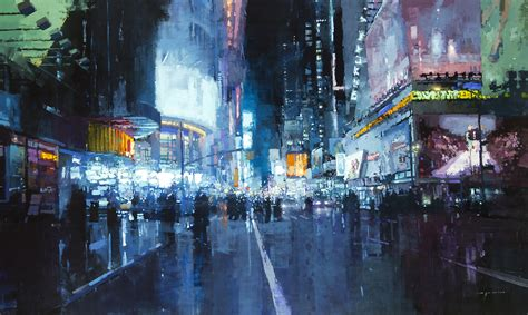 best paint nite nyc gritty new cityscapes by mann colossal