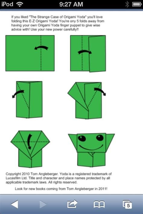 how to make yoda origami how to fold an origami yoda origami