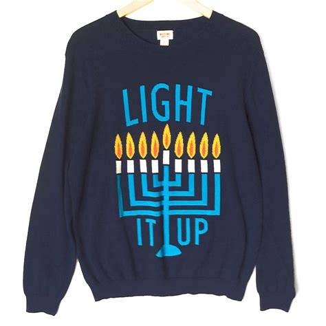 mens light up sweaters light it up s hanukkah chanukah sweater the