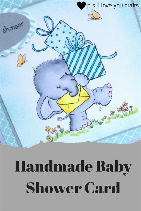 make a baby shower card handmade baby shower card the inspiration vault