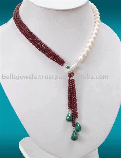 how to make gold beaded jewelry source designer ruby white pearls necklace