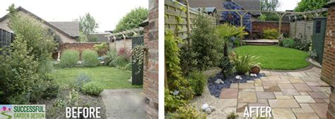 before and after a designer garden design makeover in a weekend garden therapy
