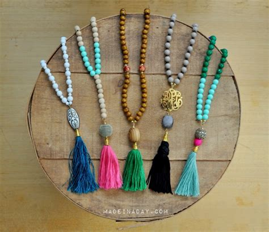 beaded tassel tutorial diy beaded tassel necklaces