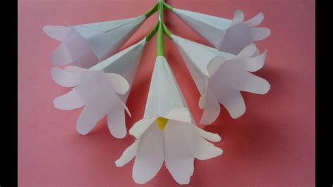paper craft flowers make how to make origami paper flowers flower with