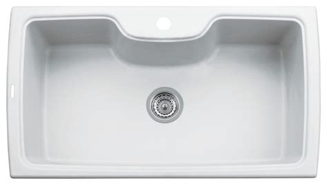 white composite kitchen sinks 35 quot drop in single bowl granite composite kitchen sink