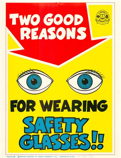 woodwork safety vintage work eye safety poster sears workplace two