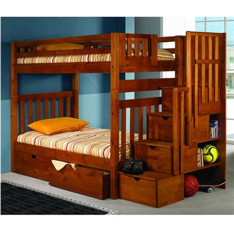 steps for bunk beds bunk bed with steps mission bunk bed with storage