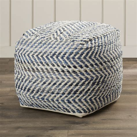 pouf ottoman beachcrest home lubec chevron pouf ottoman reviews wayfair