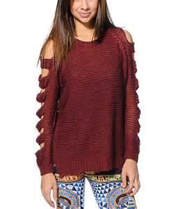 maroon knit sweater lira maroon knit sweater zumiez