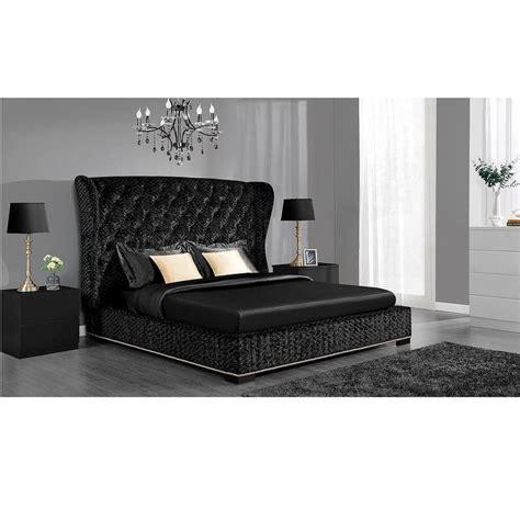 bed black dhp luxe premium black velvet upholstered bed